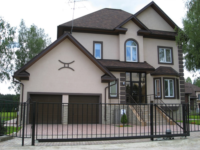 Мокрый фасад фото домов